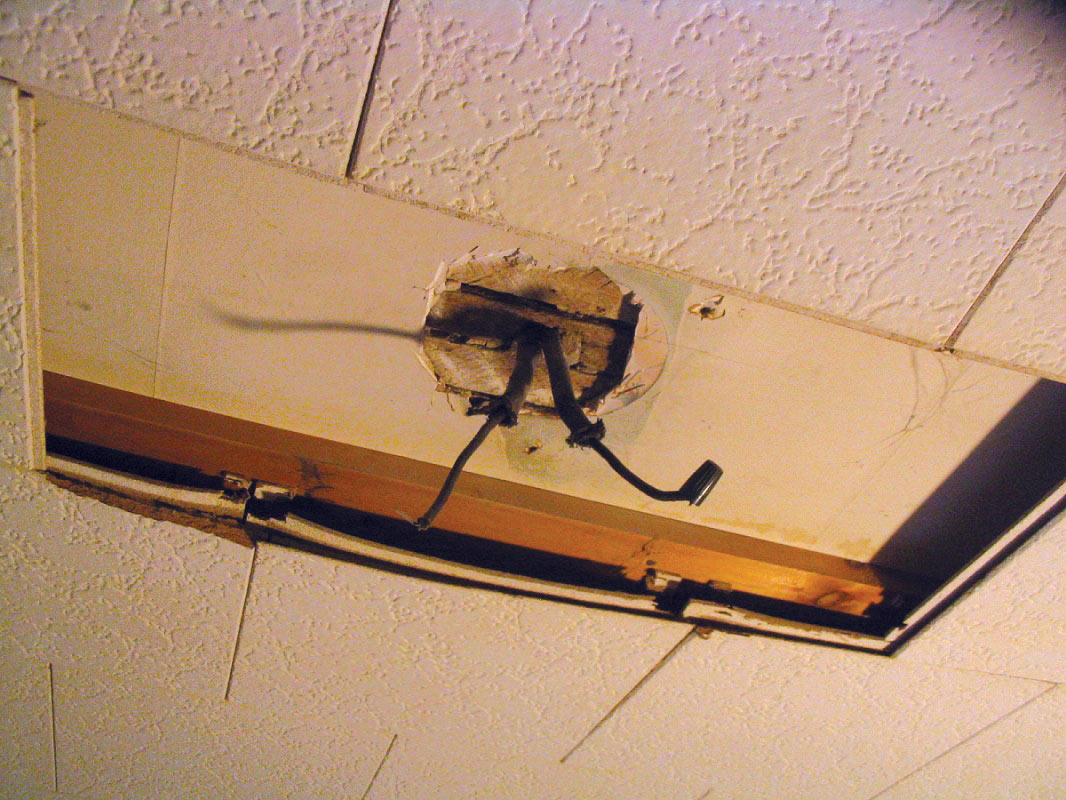 Installing ceiling fan box in plaster ceiling electrical diy this image has been resized click this bar to view the full image aloadofball Choice Image